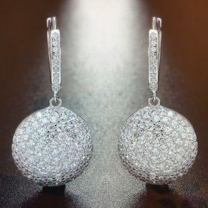 Sterling silver earrings paved AAA SZ